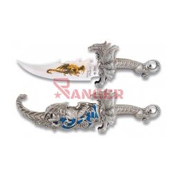 [31399] CUCHILLO FANTASIA DRAGON C/FUNDA PLATA